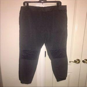Other - Men's XXL Black Joggers Sweatpant Warmups Charcoal